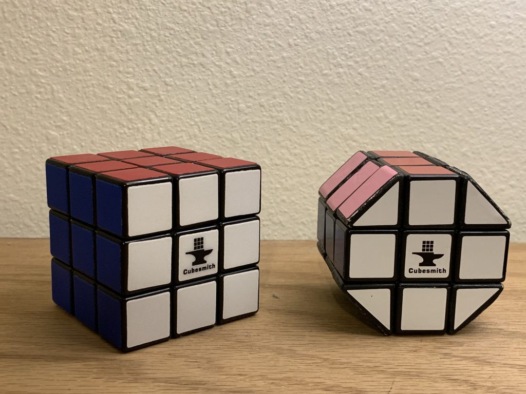 Rubik's cube with cubesmith stickers