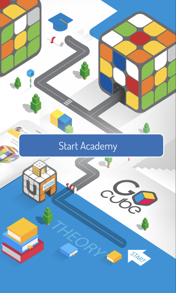 GoCube Academy launch screen
