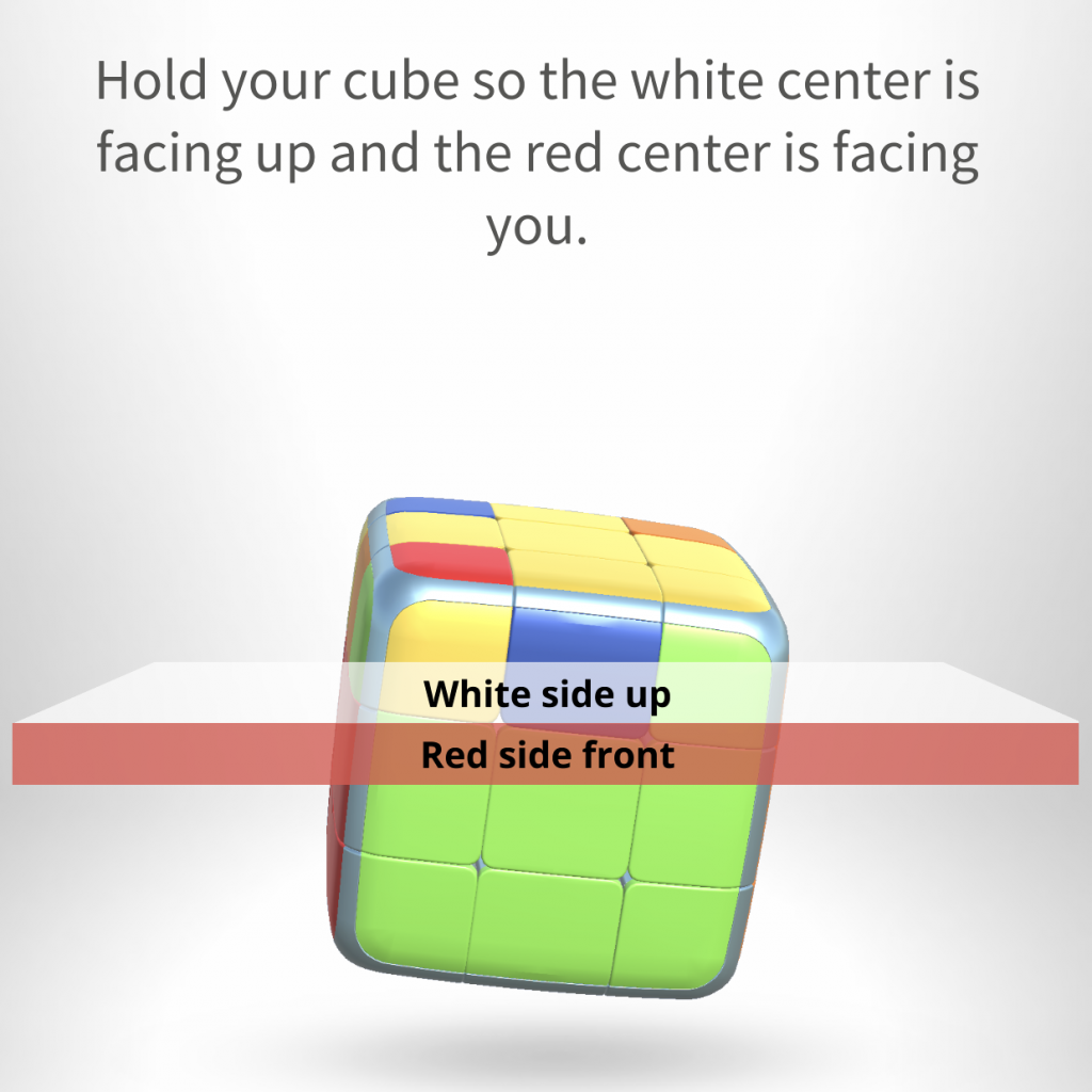 GoCube app showing indicators of how to rotate the cube