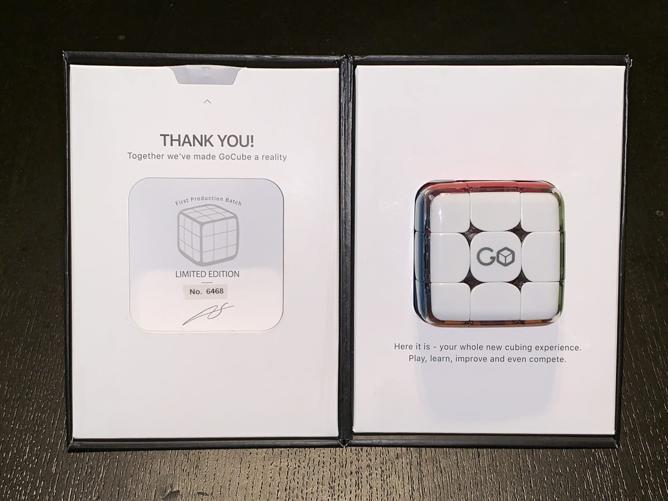 GoCube inside the original box